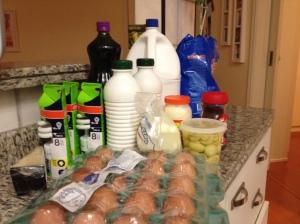 Resultado final da compra do supermercado